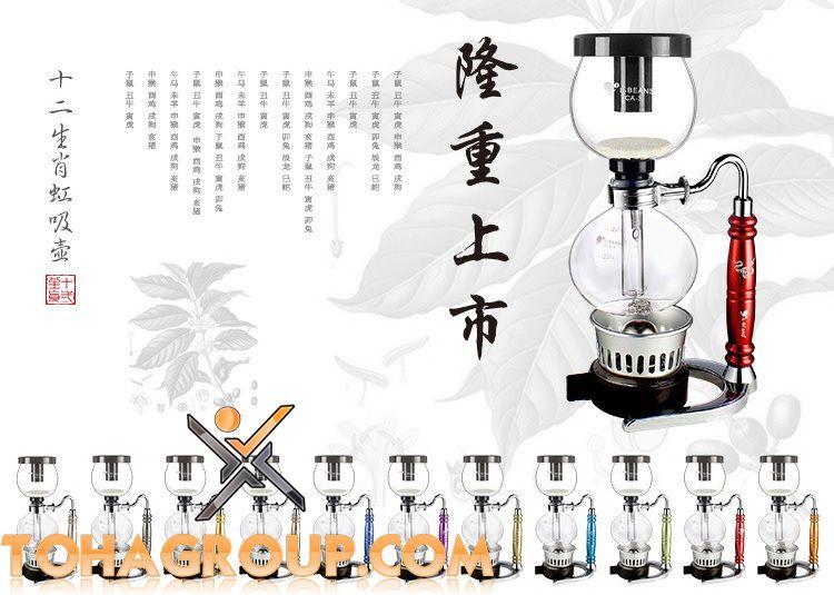 bình pha cà phê syphon, máy pha cà phê giá rẻ