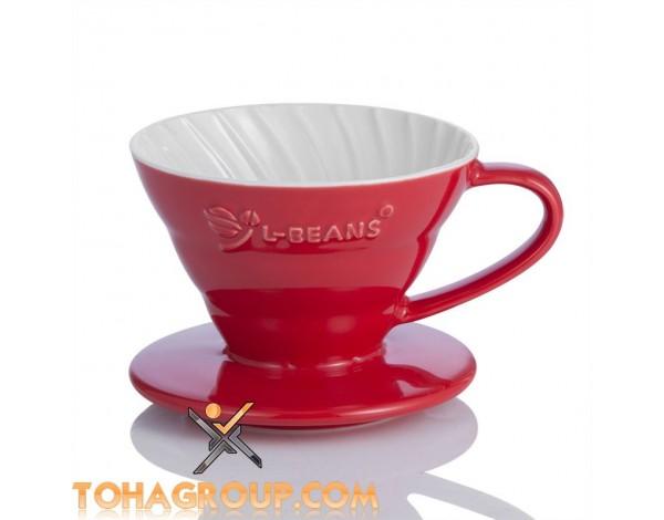 Phễu lọc coffee Drip L-beans Chất liệu sứ cách nhiệt